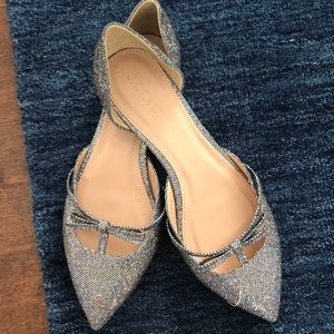 Jcrew sequin glitter flats 8 NEW